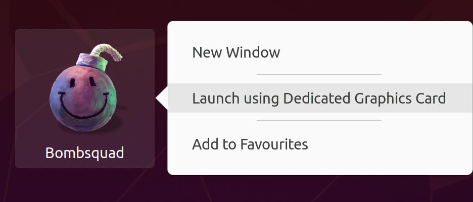 Launch on GPU context menu