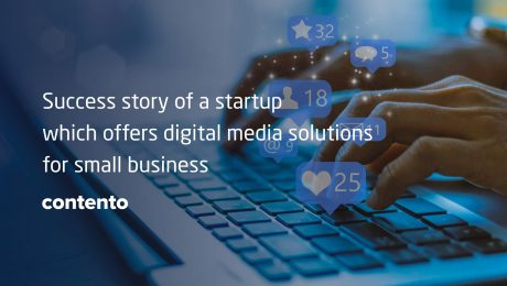 Contento startup that took advantage of AI technologies and implemented it in digital marketing