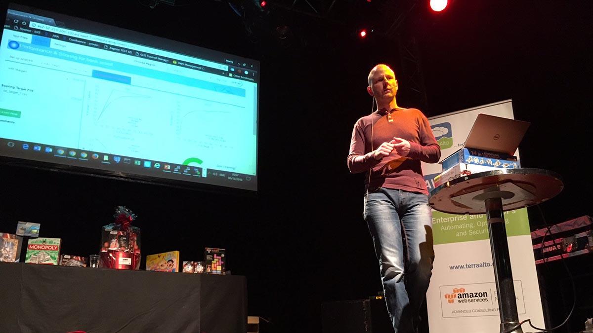 Maciek Wasiak Xpanse AI AWS meetup in Dublin